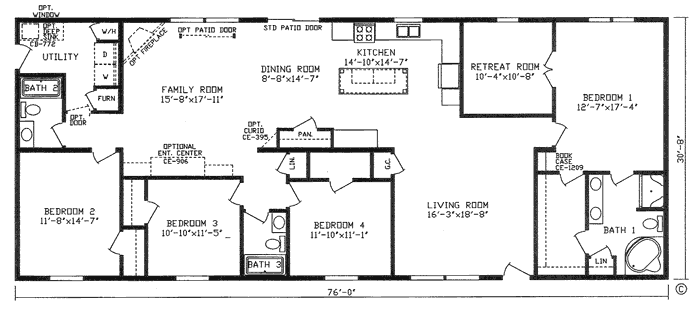 Bedroom Bath House Plans Home Design